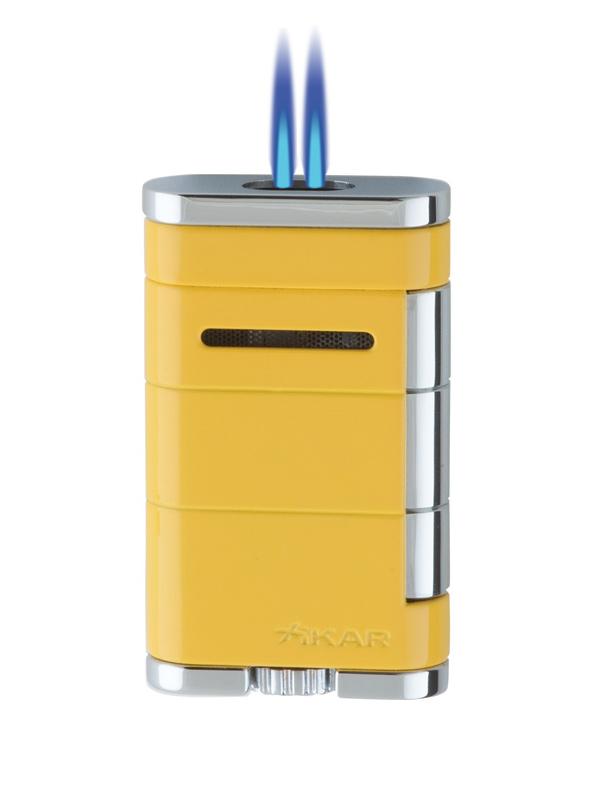 XIKAR Allume Double Electric Yellow Jet Lighter