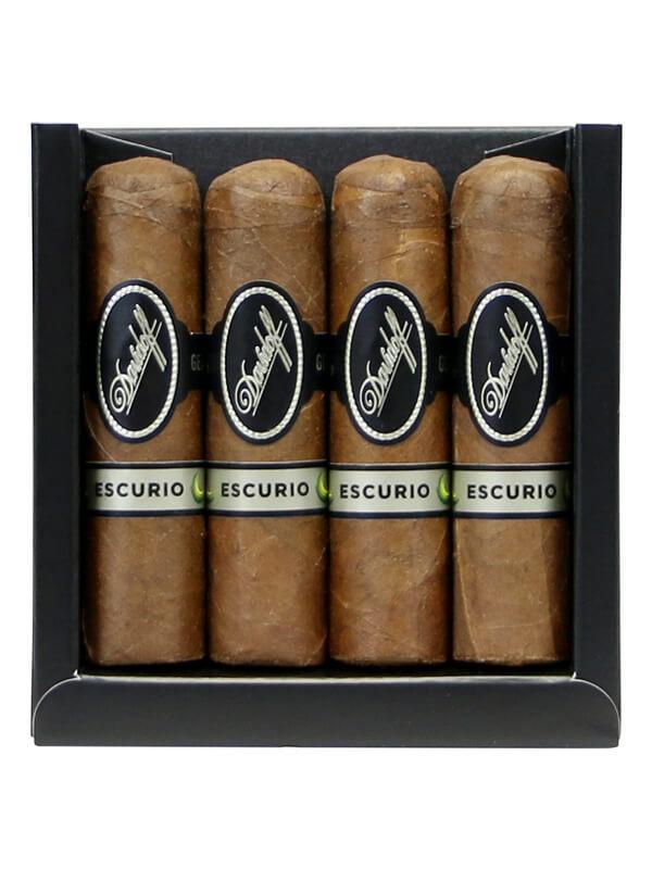 Davidoff 4 Pack Escurio Petit Robusto Cigars